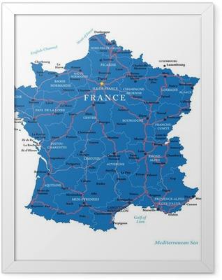 France map Framed Poster