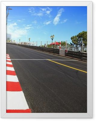 Monaco, Monte Carlo. Race asphalt, Grand Prix circuit Framed Poster