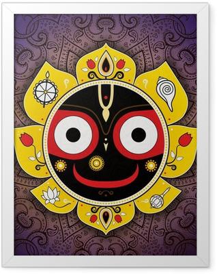 Jagannath. Indian God of the Universe. Lord Jagannatha. Framed Poster