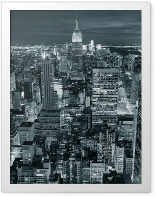 Empire State Building closeup Framed Poster