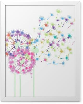 bunte Pusteblumen Framed Poster