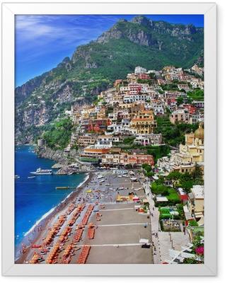 scenic Italy - Positano Framed Poster
