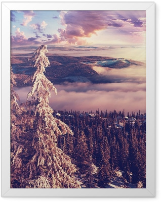 Winter in Norway Framed Poster