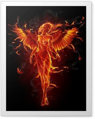 Fiery angel Framed Poster