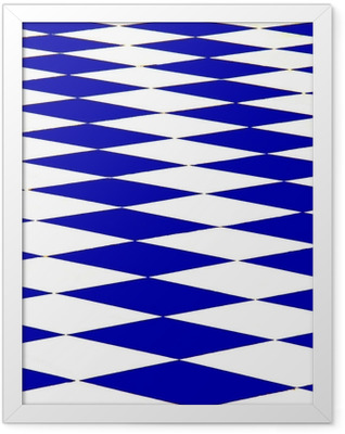 échiquier bleu Framed Poster