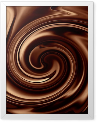 Chocolate background Framed Poster