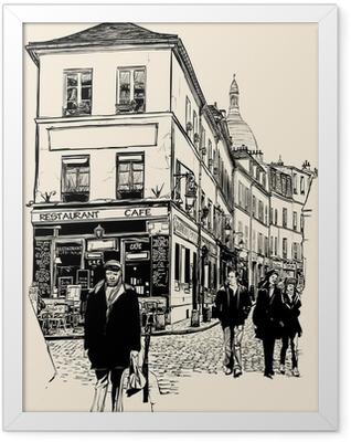 Montmartre Paris Framed Poster