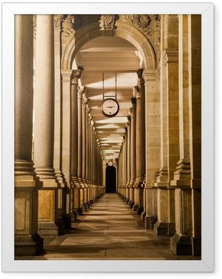 Mill colonnade at night Framed Poster