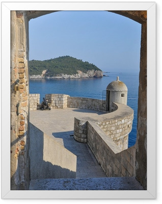 View from Dubrovnik city walls Framed Poster