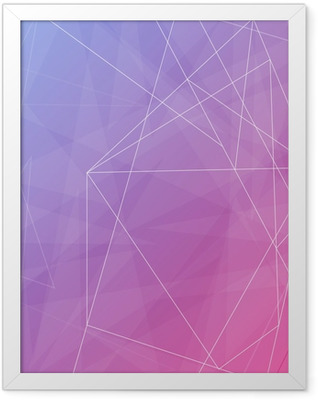 Modern abstract crystal background template Framed Poster