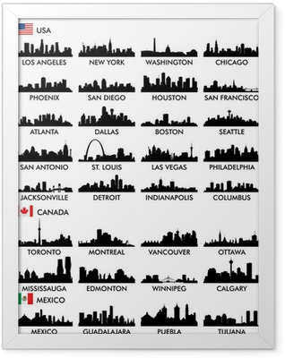 City skyline North America Framed Poster