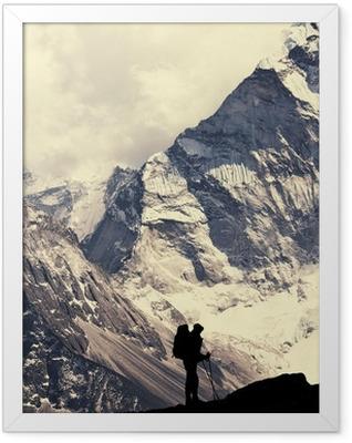 Hike in Himalaya Framed Poster