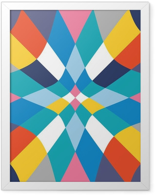 Seamless colorful abstract geometry background Framed Poster