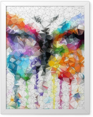 multicolor bright butterfly abstract geometric background Framed Poster