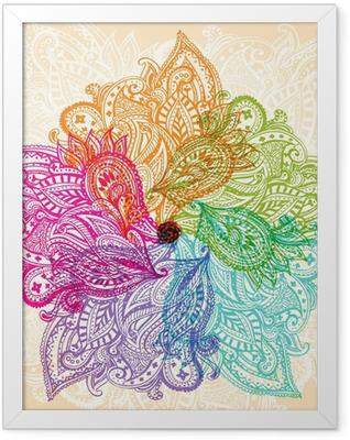 Mandala symbol Framed Poster