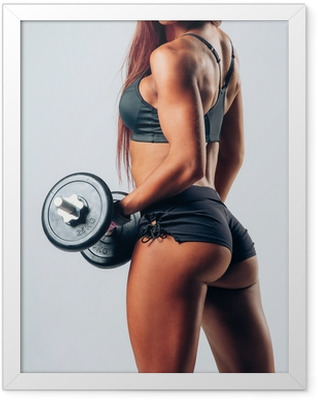fitness woman Framed Poster