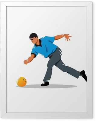 Bowling vector sign Framed Poster