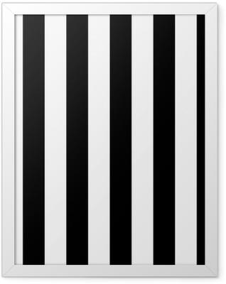 Diagonal lines black and white pattern Framed Poster