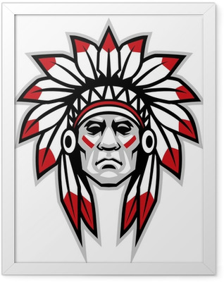 indian chief Framed Poster