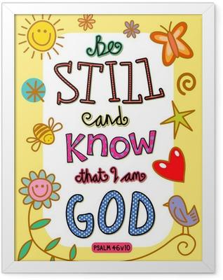Bible Verse Art Framed Poster