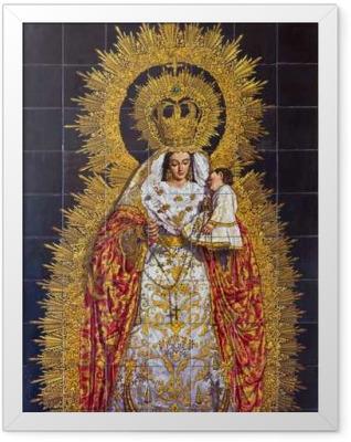 Seville - The ceramic tiled Madonna Framed Poster