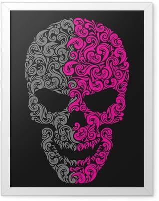 vintage skull Framed Poster
