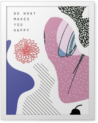 Do makes you happy Framed Poster