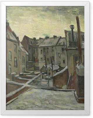 Vincent van Gogh - Backyards of Old Houses in Antwerp Framed Poster