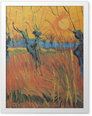 Vincent van Gogh - Willows at Sunset Framed Poster