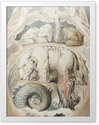 William Blake - Behemoth and Lewiathan Framed Poster