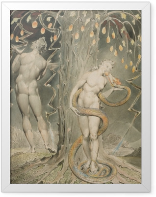 William Blake - Eve Tempted by the Serpent Framed Poster