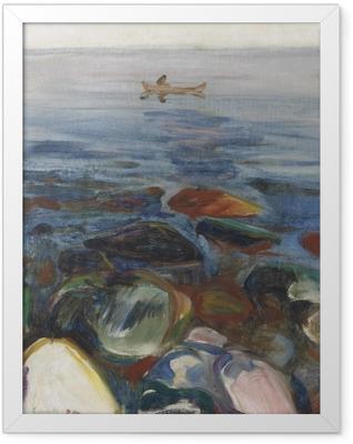 Edvard Munch - Boat on the Sea Framed Poster