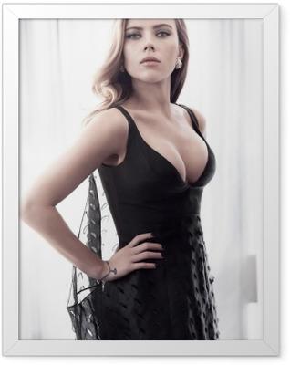 Scarlett Johansson Framed Poster