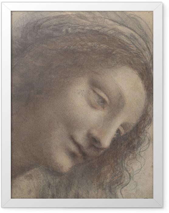 Poster en cadre Léonard de Vinci - Chef d'une femme - Reproductions