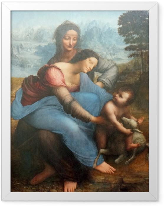 Plakat w ramie Leonardo da Vinci - Święta Anna Samotrzecia - Reprodukcje