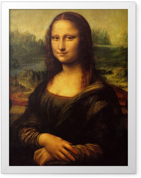 Gerahmtes Poster Leonardo da Vinci - Mona Lisa - Reproduktion