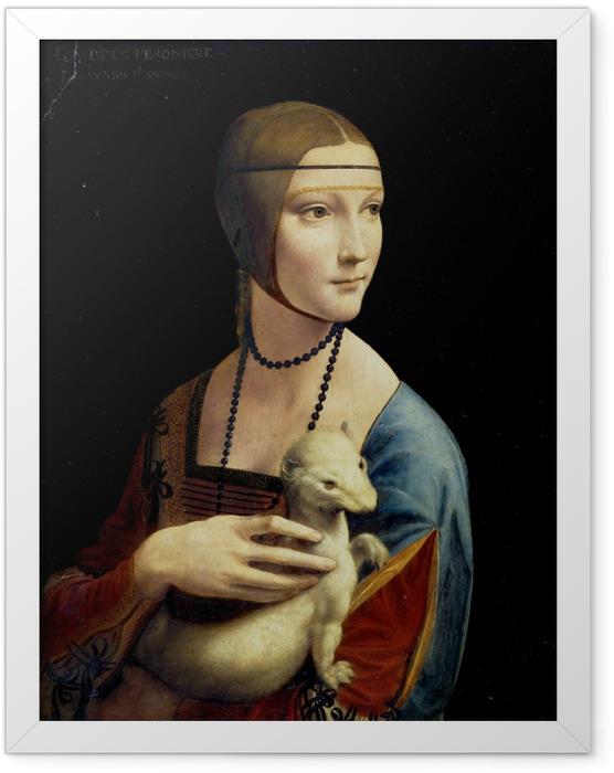Plakat w ramie Leonardo da Vinci - Dama z gronostajem - Reprodukcje