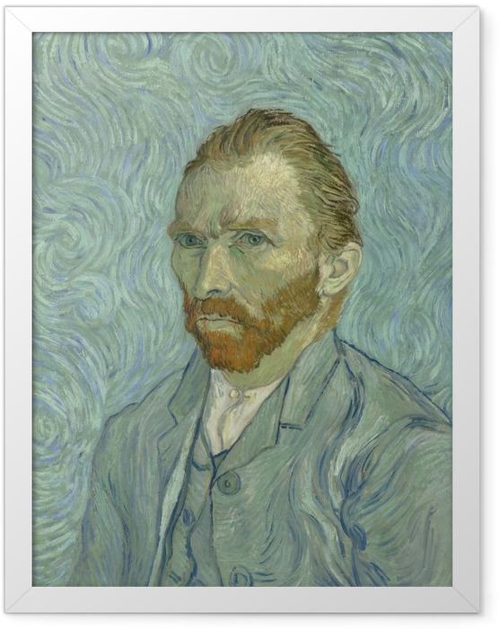 Gerahmtes Poster Vincent van Gogh - Selbstbildnis - Reproductions