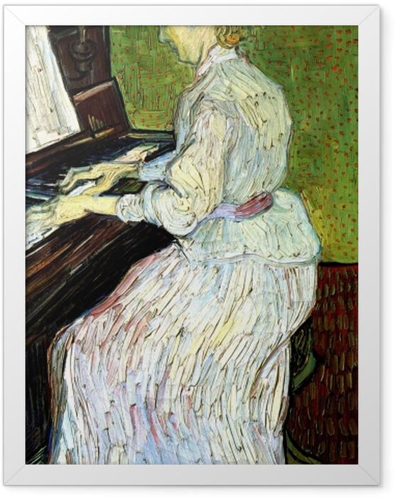 Gerahmtes Poster Vincent van Gogh - Marguerite Gachet am Klavier - Reproductions