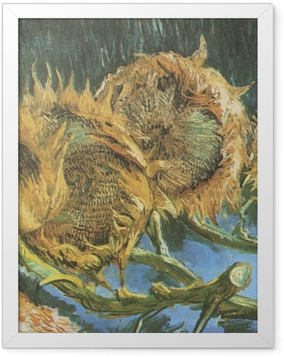 Plakat w ramie Vincent van Gogh - Cztery ścięte słoneczniki - Reproductions