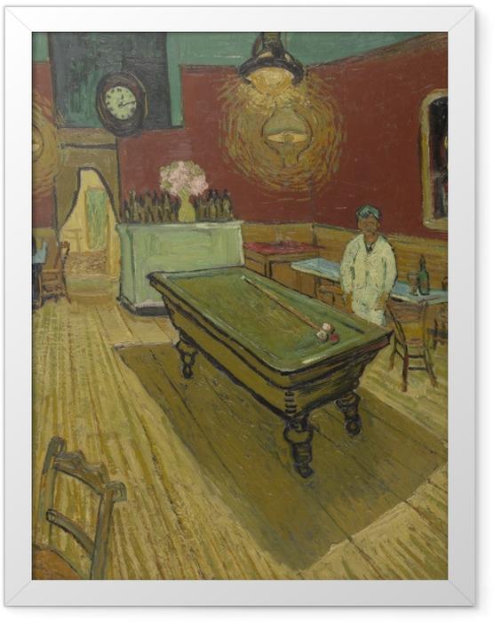 Gerahmtes Poster Vincent van Gogh - Das Nachtcafé - Reproductions
