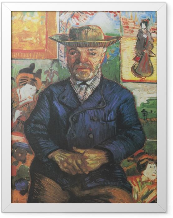 Poster en cadre Vincent van Gogh - Portrait du père Tanguy - Reproductions