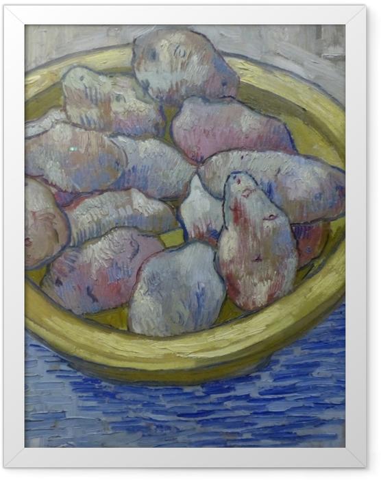 Poster en cadre Vincent van Gogh - Pommes de terre dans un plat jaune - Reproductions