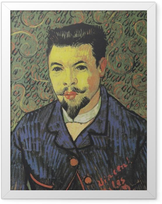 Gerahmtes Poster Vincent van Gogh - Bildnis Dr. Félix Rey - Reproductions