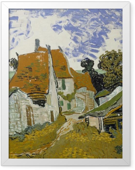 Plakat w ramie Vincent van Gogh - Wiejska droga w Auvers - Reproductions