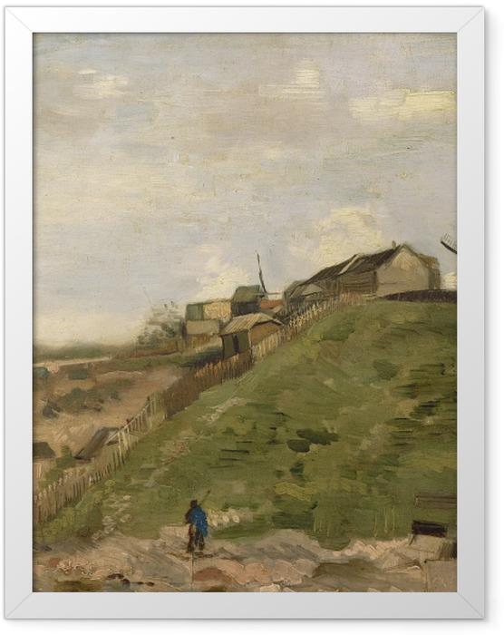 Gerahmtes Poster Vincent van Gogh - Der Hügel von Montmartre mit Steinbruch - Reproductions