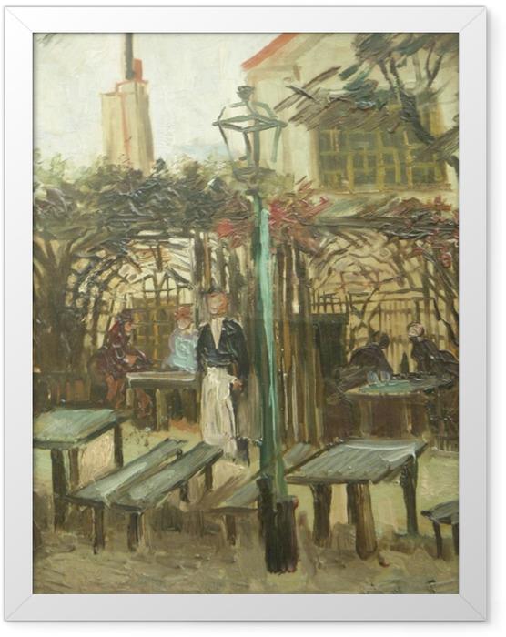 Gerahmtes Poster Vincent van Gogh - La Guinguette - Reproductions