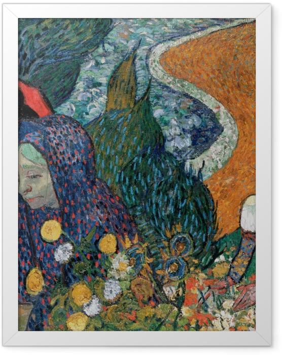 Gerahmtes Poster Vincent van Gogh - Erinnerung an den Garten in Etten - Reproductions