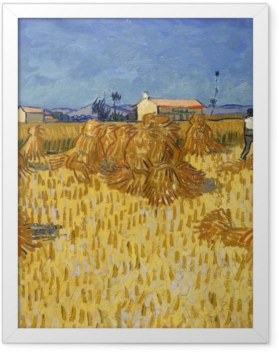 Plakat w ramie Vincent van Gogh - Zbiory w Prowansji - Reproductions