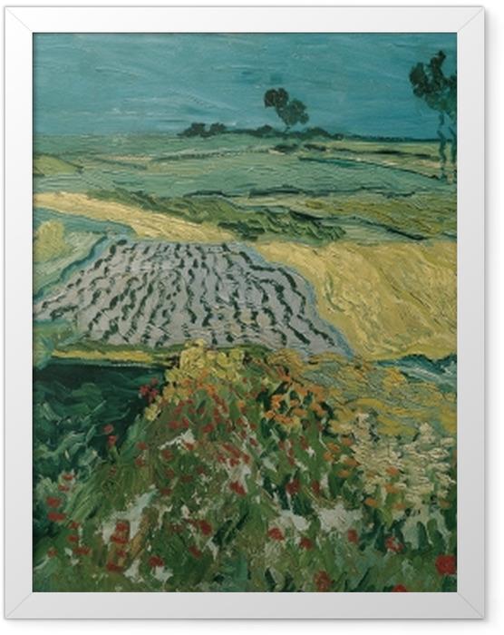Plakat w ramie Vincent van Gogh - Pola w Auvers - Reproductions